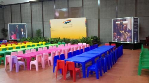 Plain Color Tables and chairs